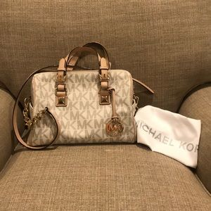 Michael Kors speedy style bag with shoulder strap